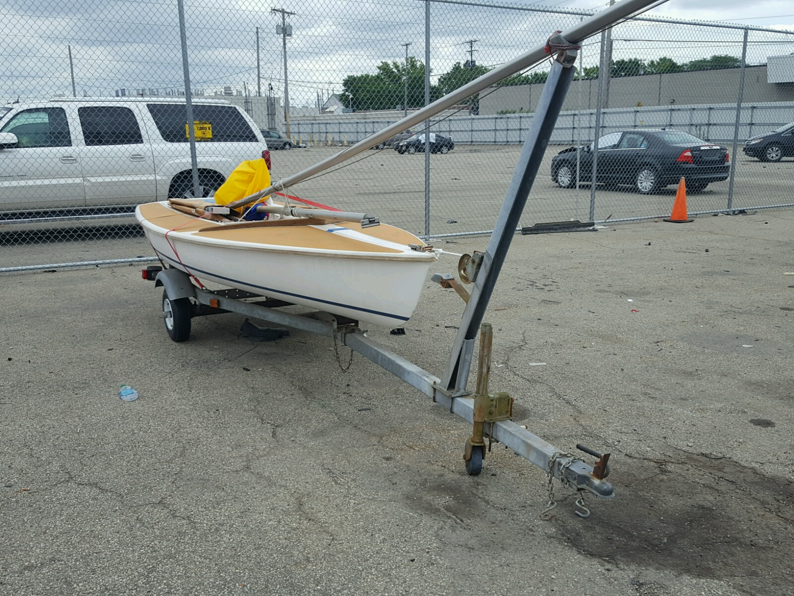 Salvage 1974 Cycl MARINE TRAILER for sale