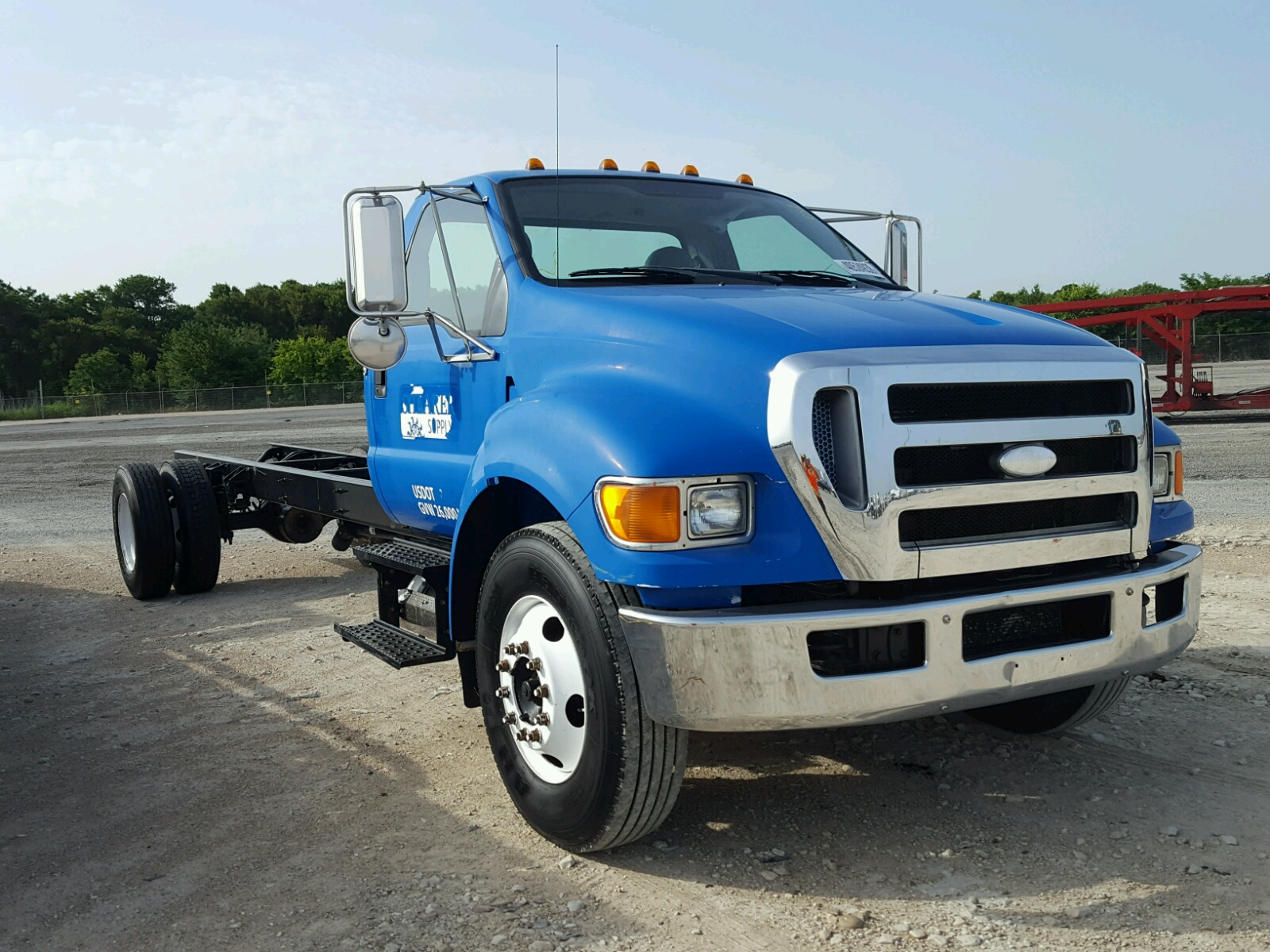 2008 Ford F650 Super for sale at Copart Grand Prairie TX Lot