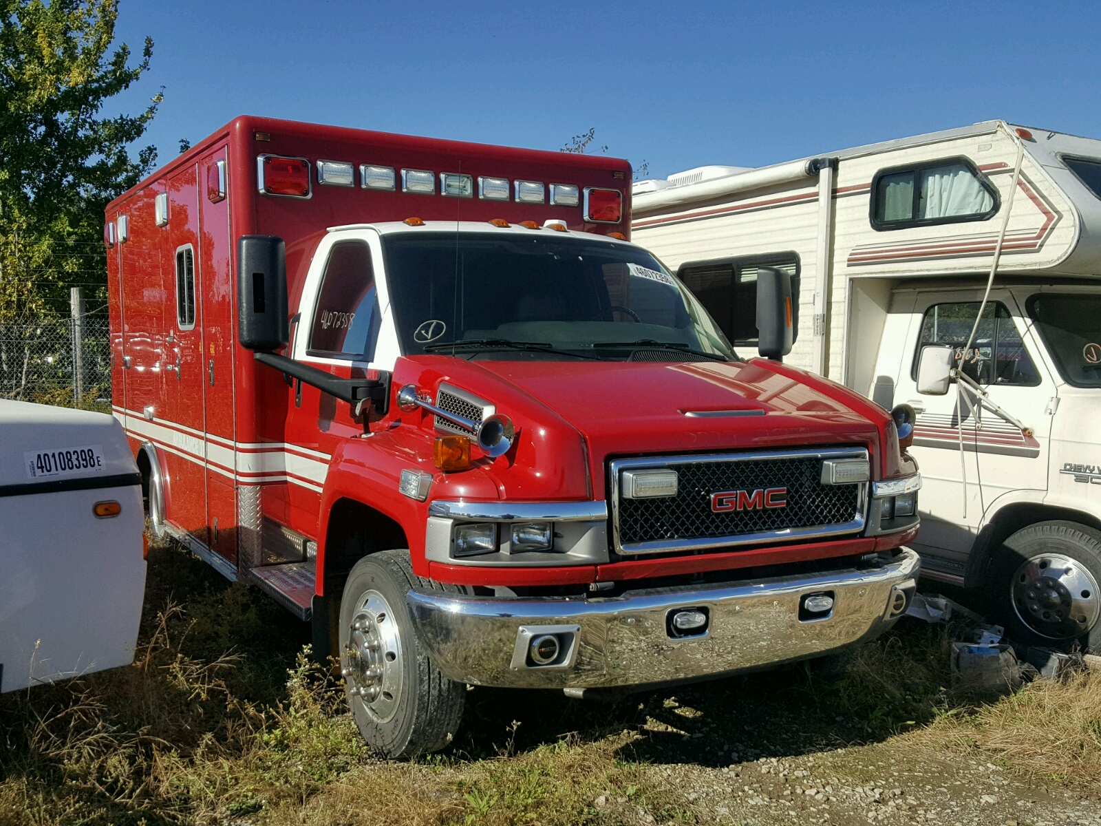 2009 Gmc C4500 C4v0 For Sale At Copart Indianapolis In Lot 46072358 Topkick Chevy Kodiak