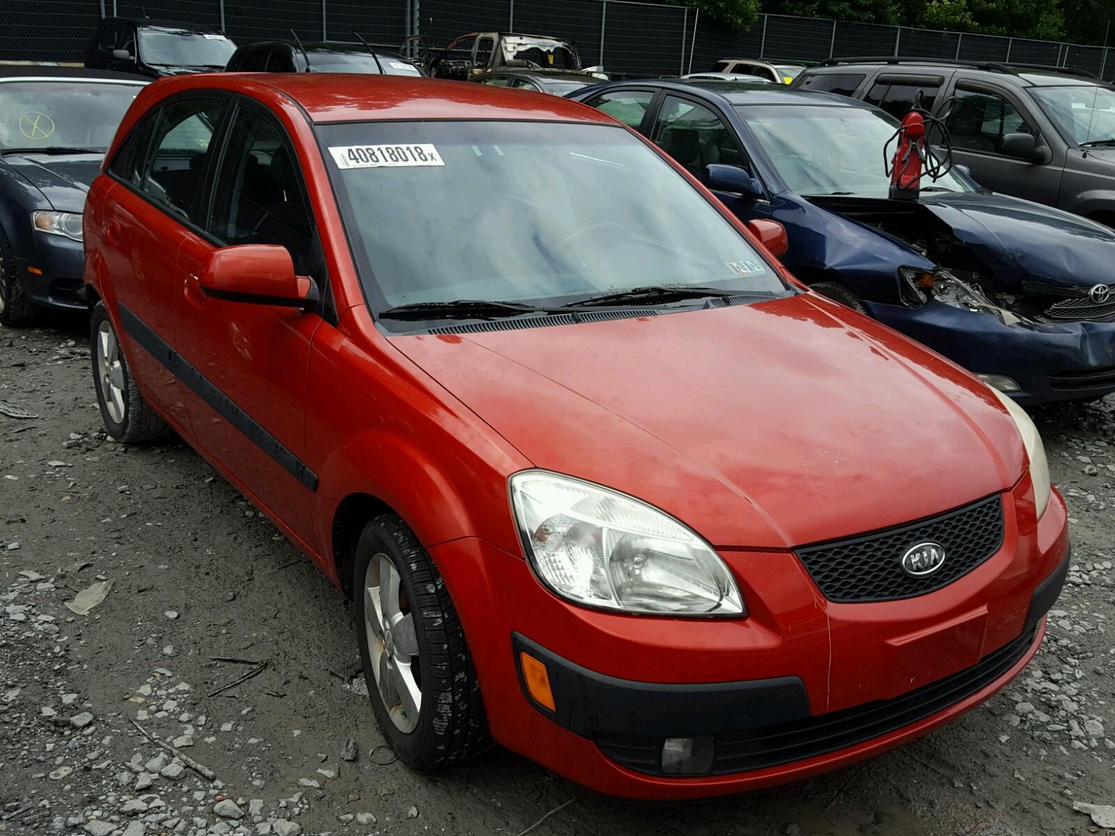 Knade163976222471 2007 Red Kia Rio 5 Sx On Sale In Dc Washington Rio5 16l Left View