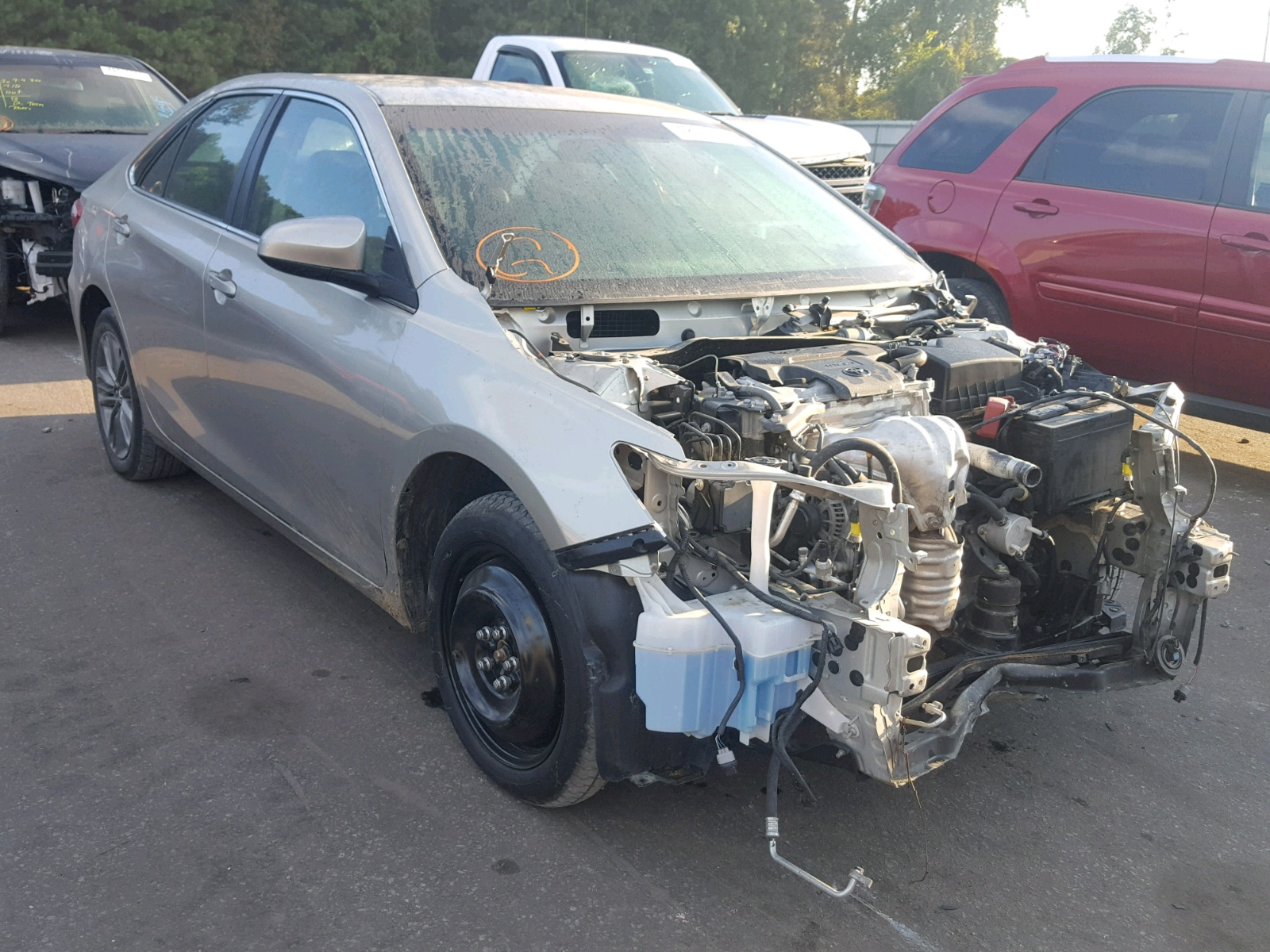 Salvage 2017 Toyota CAMRY LE for sale