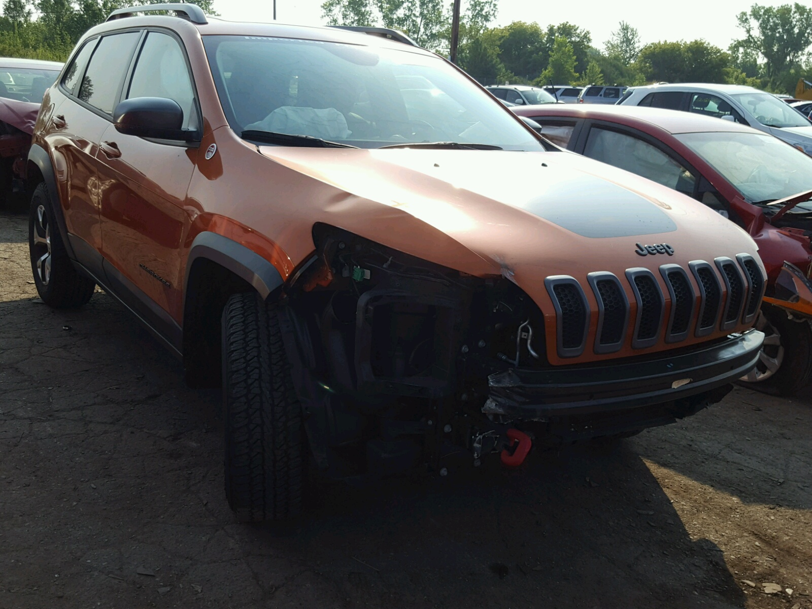 Salvage 2015 Jeep CHEROKEE T for sale