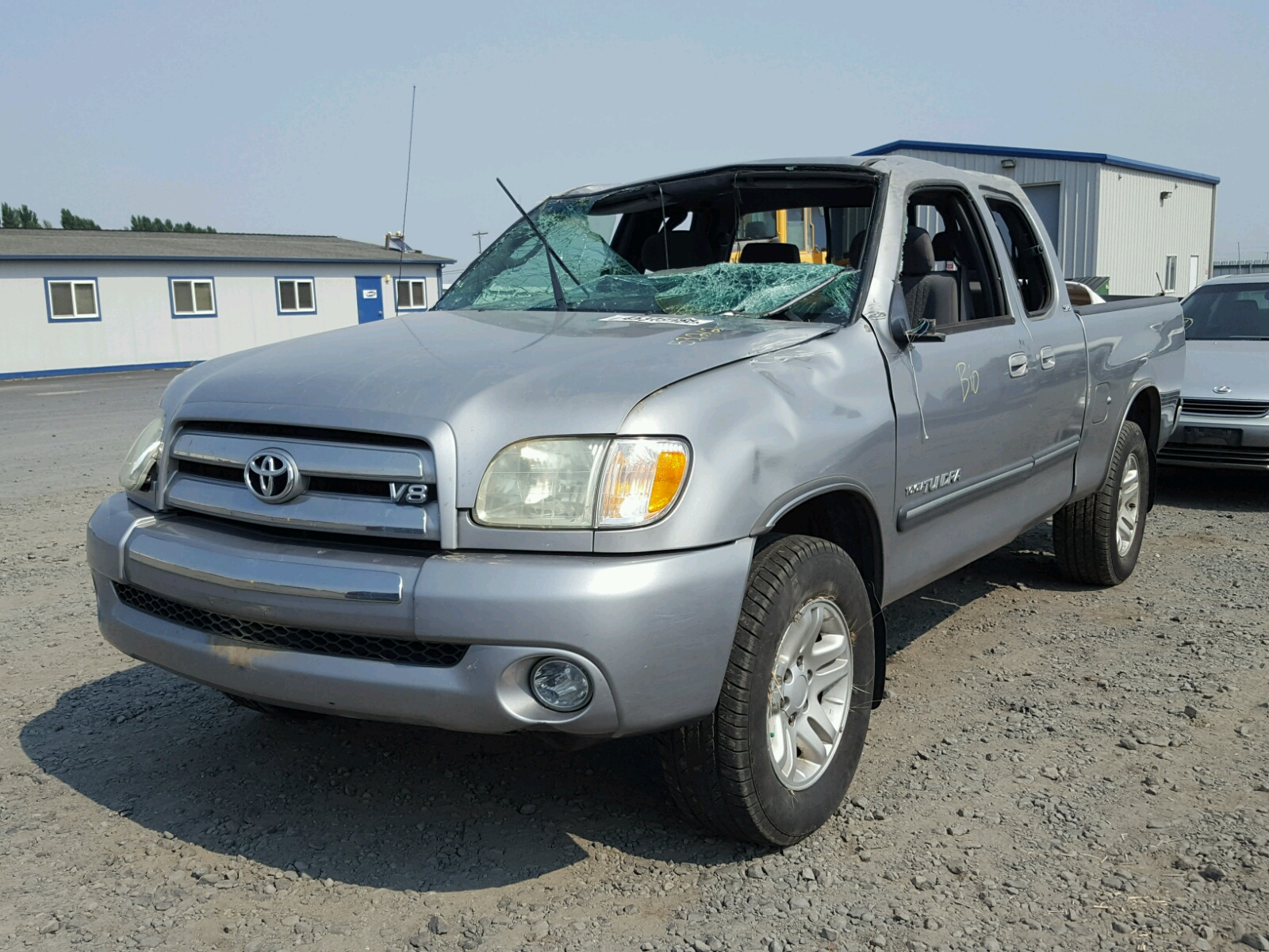 5tbbt44184s445737 2004 Gray Toyota Tundra Acc On Sale In Wa Sequoia Loaded 47l Right View