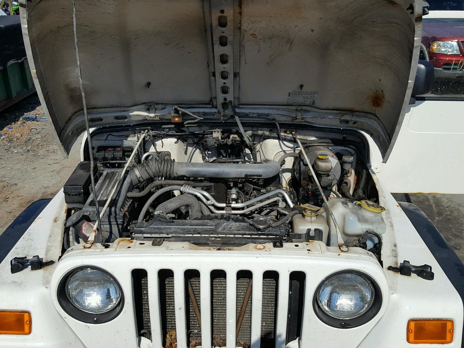 1j4fa69s46p728655 2006 White Jeep Wrangler On Sale In Pa Hood 40l Inside View