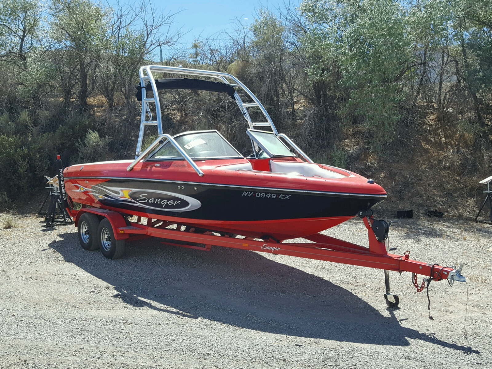 Salvage 2007 Sang MARINE TRAILER for sale