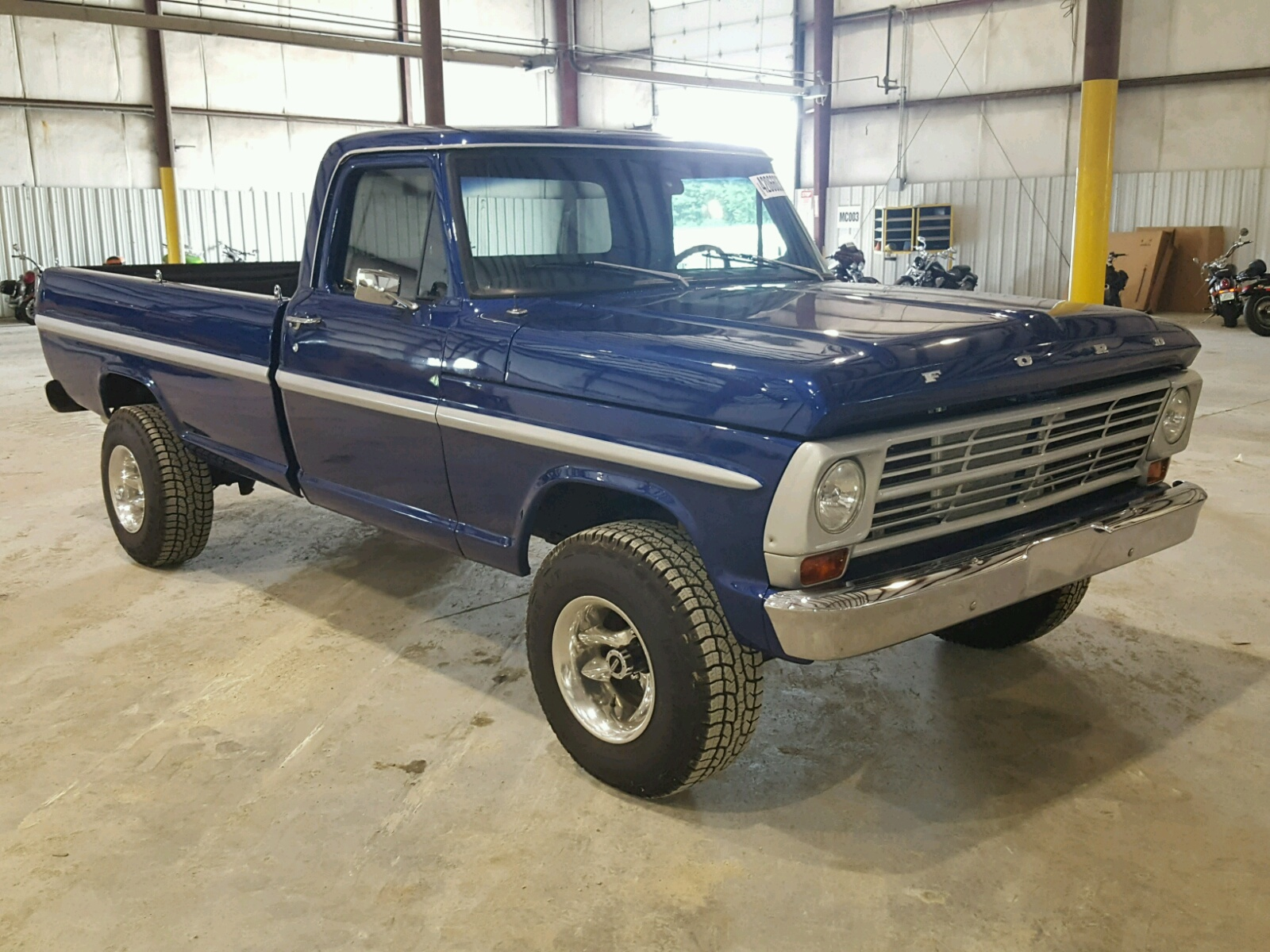 F10ycc01954 1969 Blue Ford F100 On Sale In Ky Lexington West Short Bed Left View