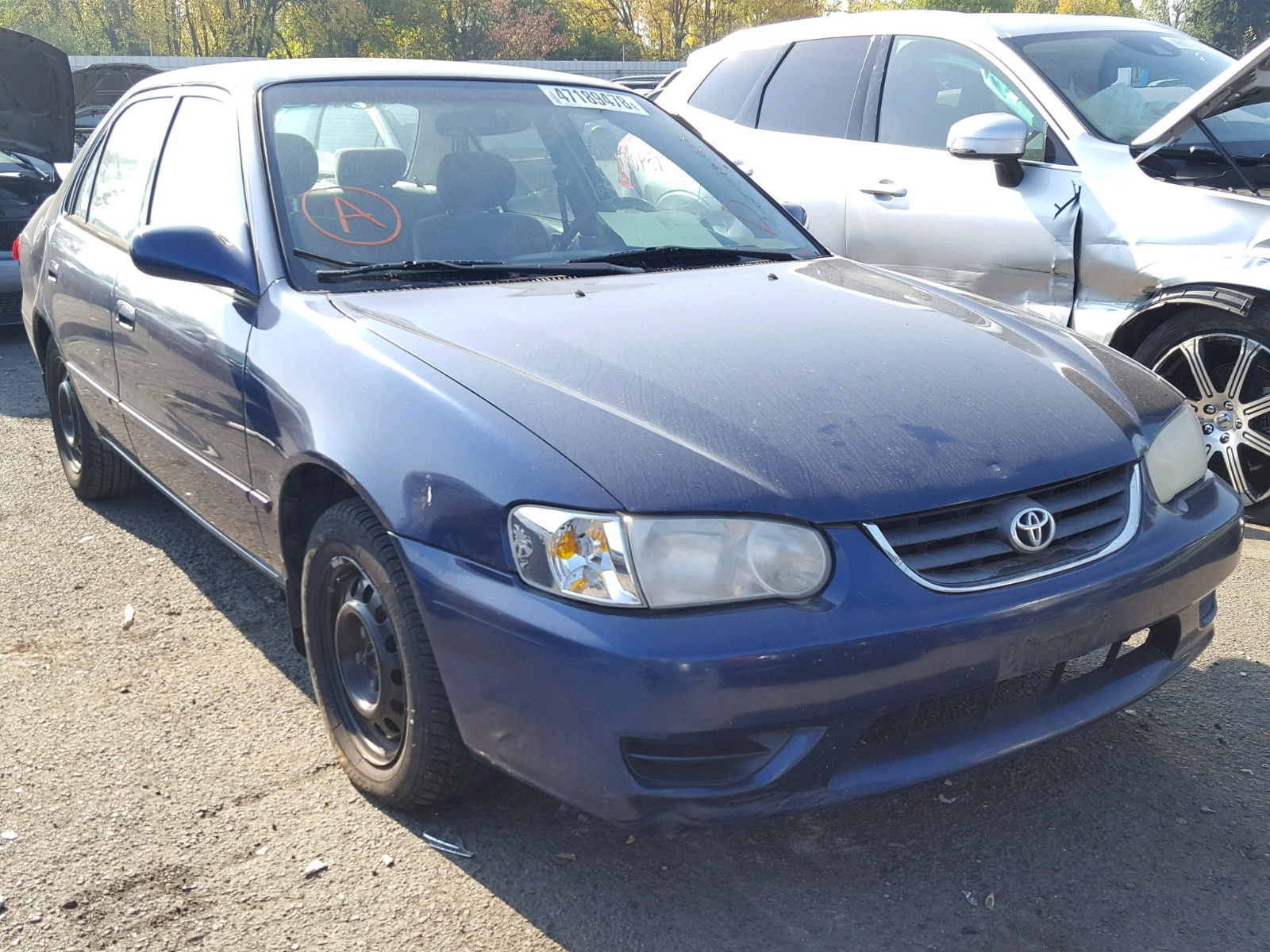 Salvage 2001 Toyota COROLLA CE for sale