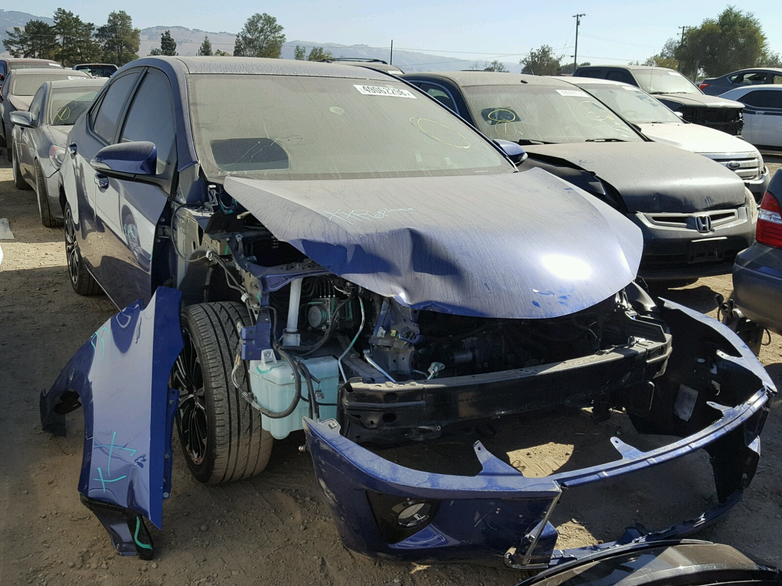 Auto Auction Ended On Vin 5yfburhe5fp285276 2015 Toyota Corolla L 1995 Supra Air Conditioning System 8211 Troubleshooting 18l Left View