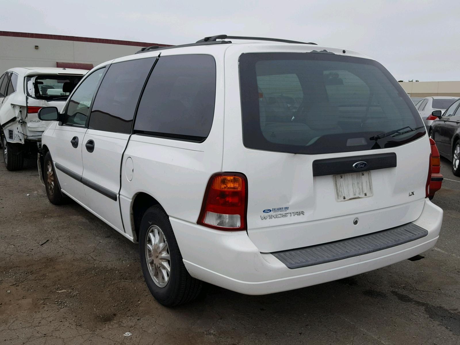 2fmza51483ba98180 2003 White Ford Windstar L On Sale In Ca Lx 38l Angle View