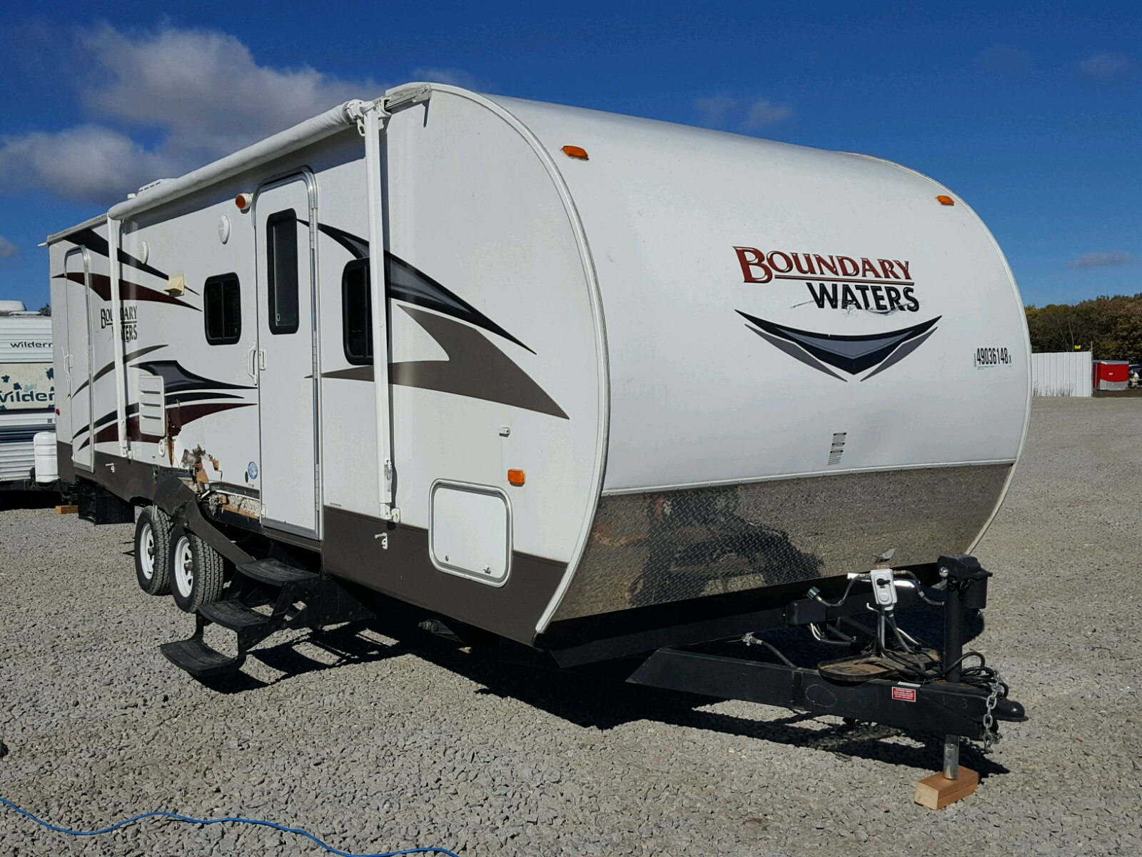Salvage 2013 Crossroads TRAVEL TRAILER for sale