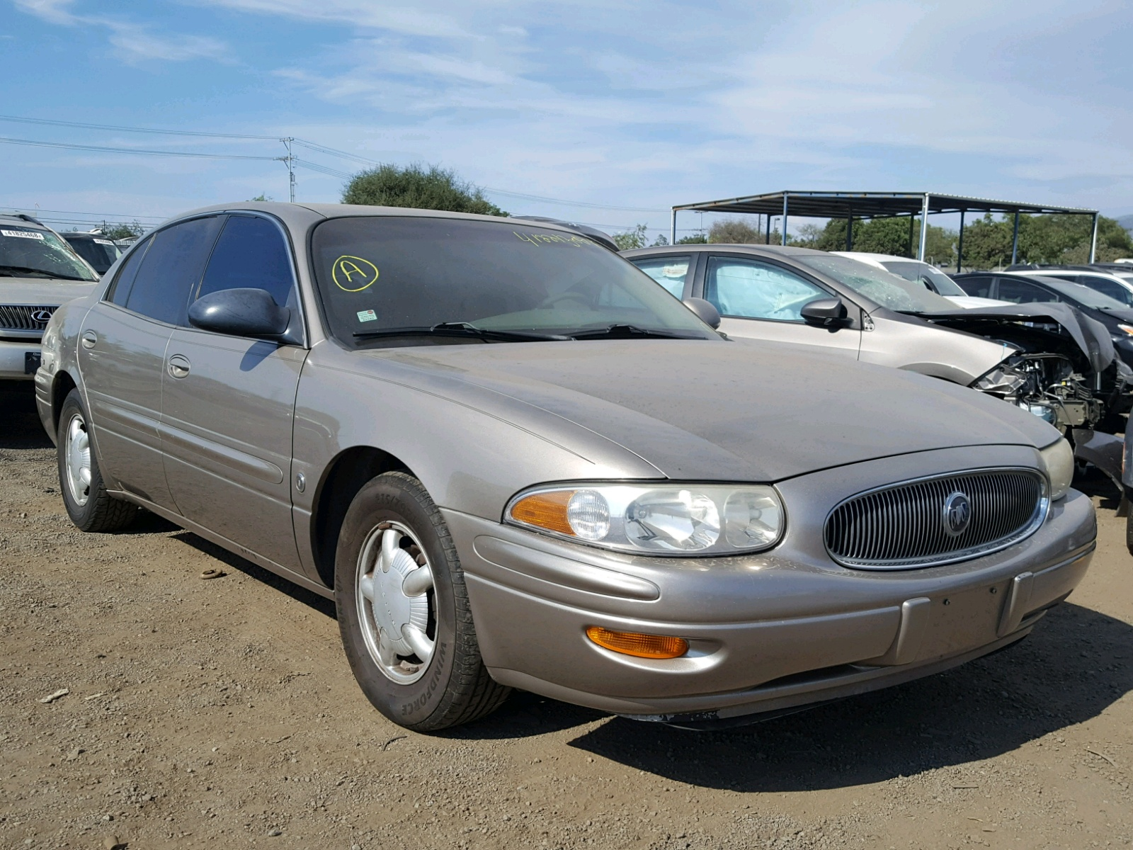 1g4hp54k9yu108396 2000 Gold Buick Lesabre Cu On Sale In Ca San 51 Concept 38l Left View