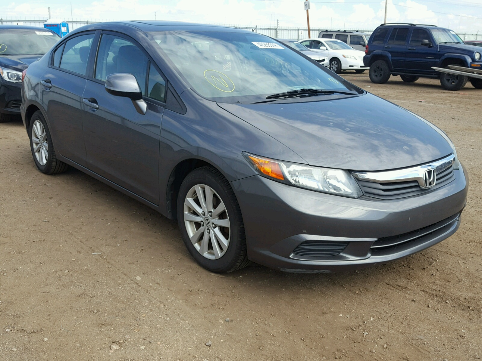 2012 Honda Civic EX for sale at Copart Brighton CO Lot