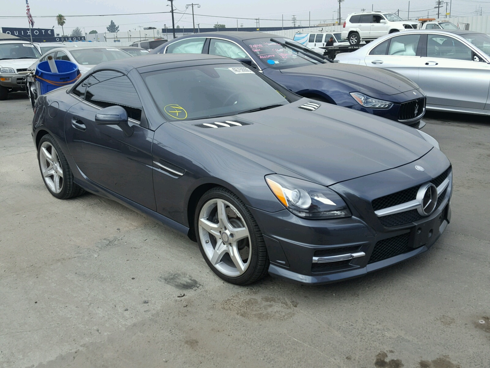 2014 mercedes benz slk 250 for sale at copart sun valley. Black Bedroom Furniture Sets. Home Design Ideas