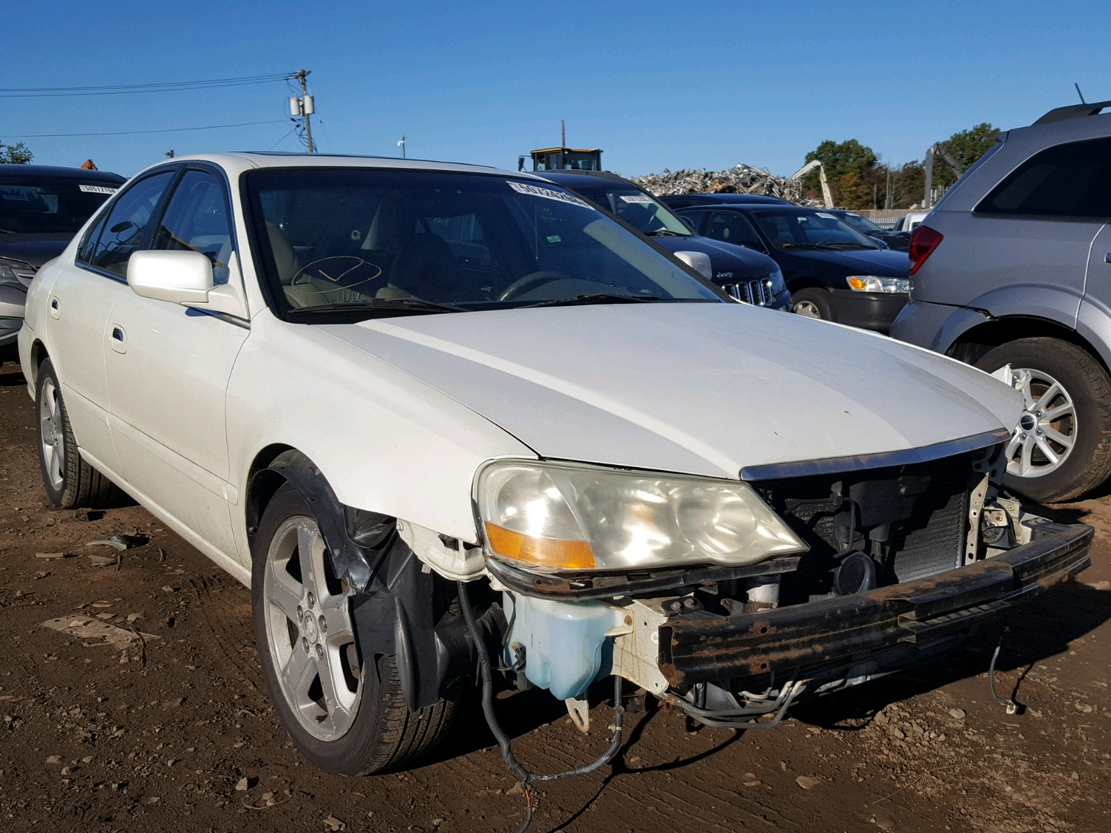 Salvage 2003 Acura 3.2TL TYPE for sale
