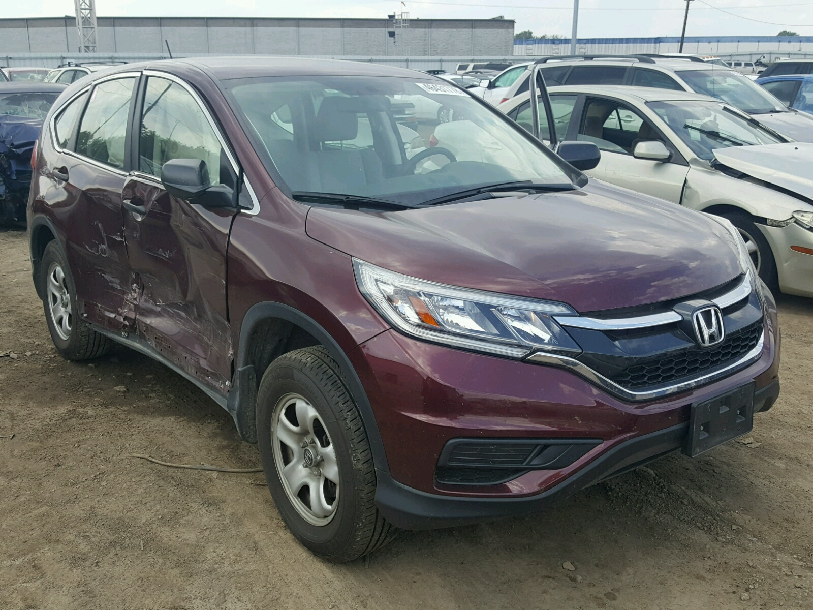 Salvage 2015 Honda CR-V LX for sale