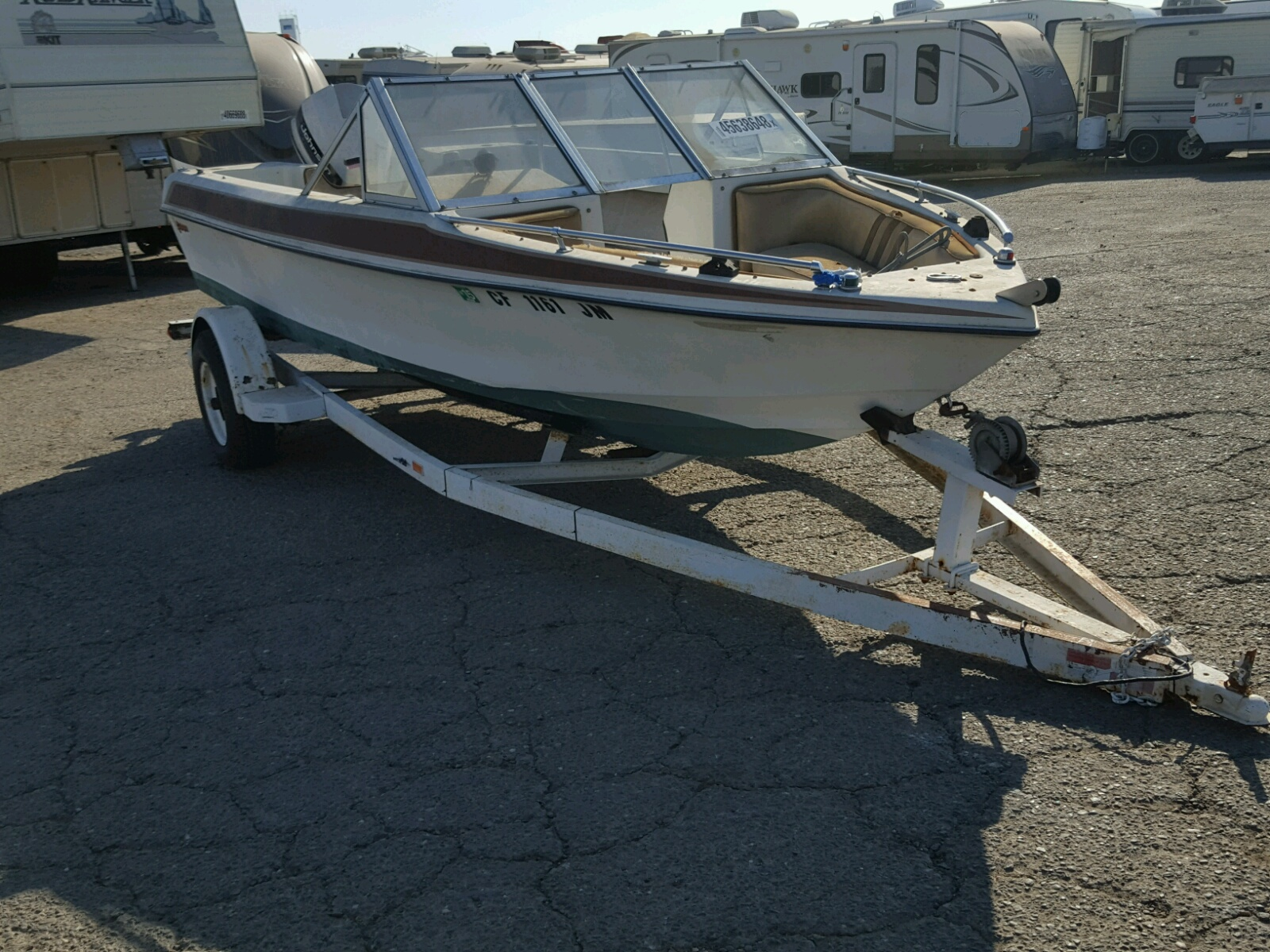 Salvage 1987 Gala MARINE TRAILER for sale
