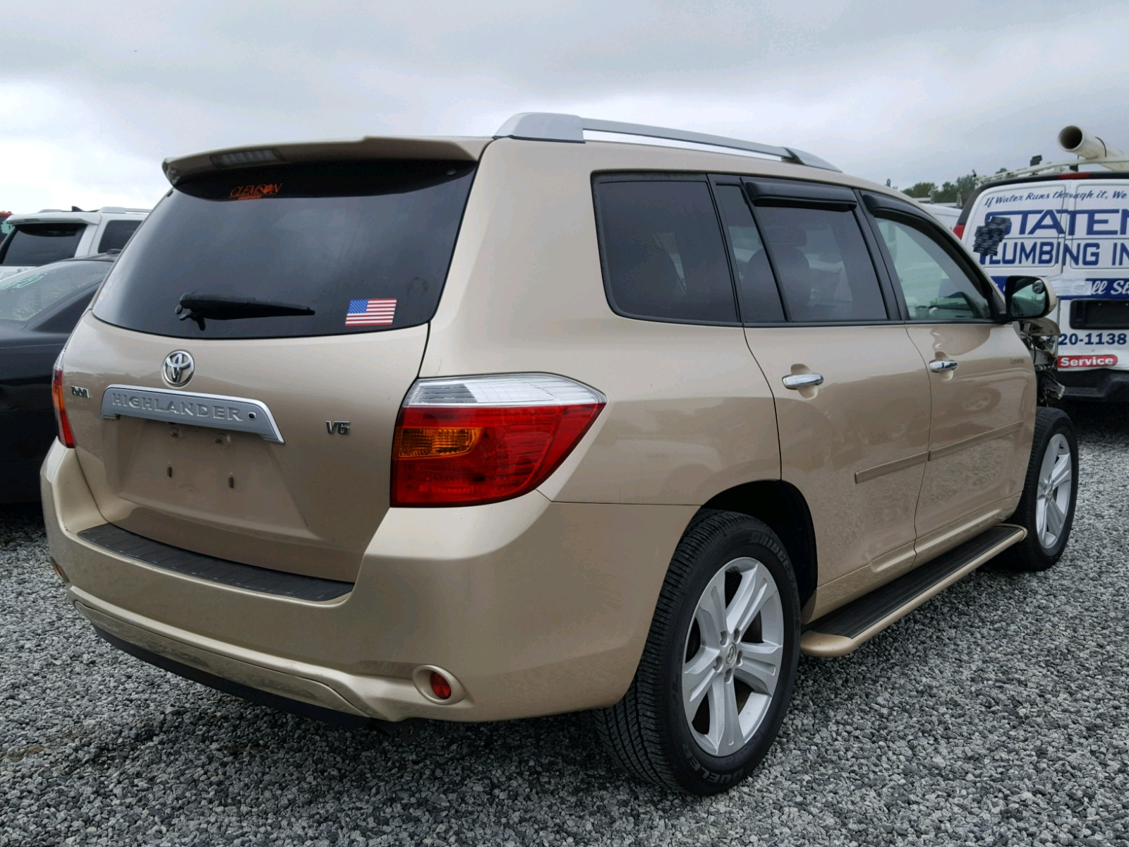 jteds42a782008133 2008 gold toyota highlander on sale in sc