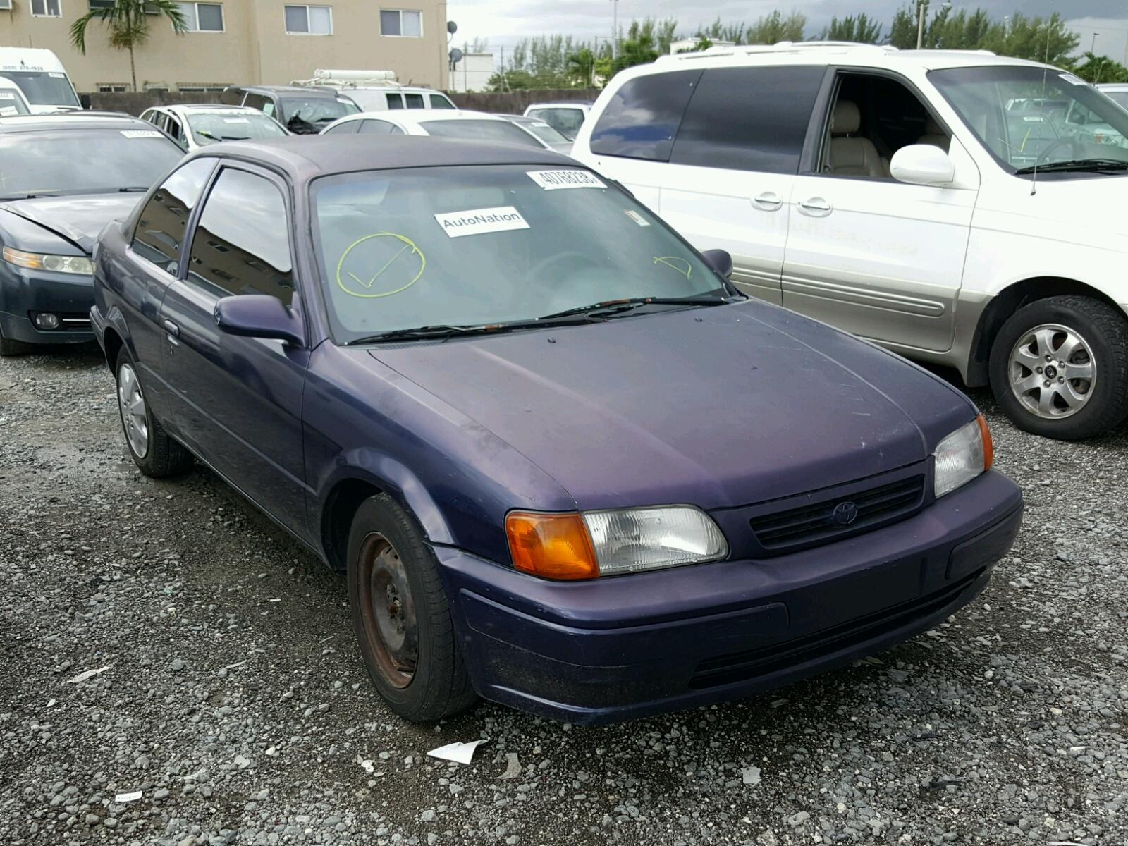 Jt2ac52l3v0217980 1997 Purple Toyota Tercel Ce On Sale In Fl 1990 Hatchback 15l Left View