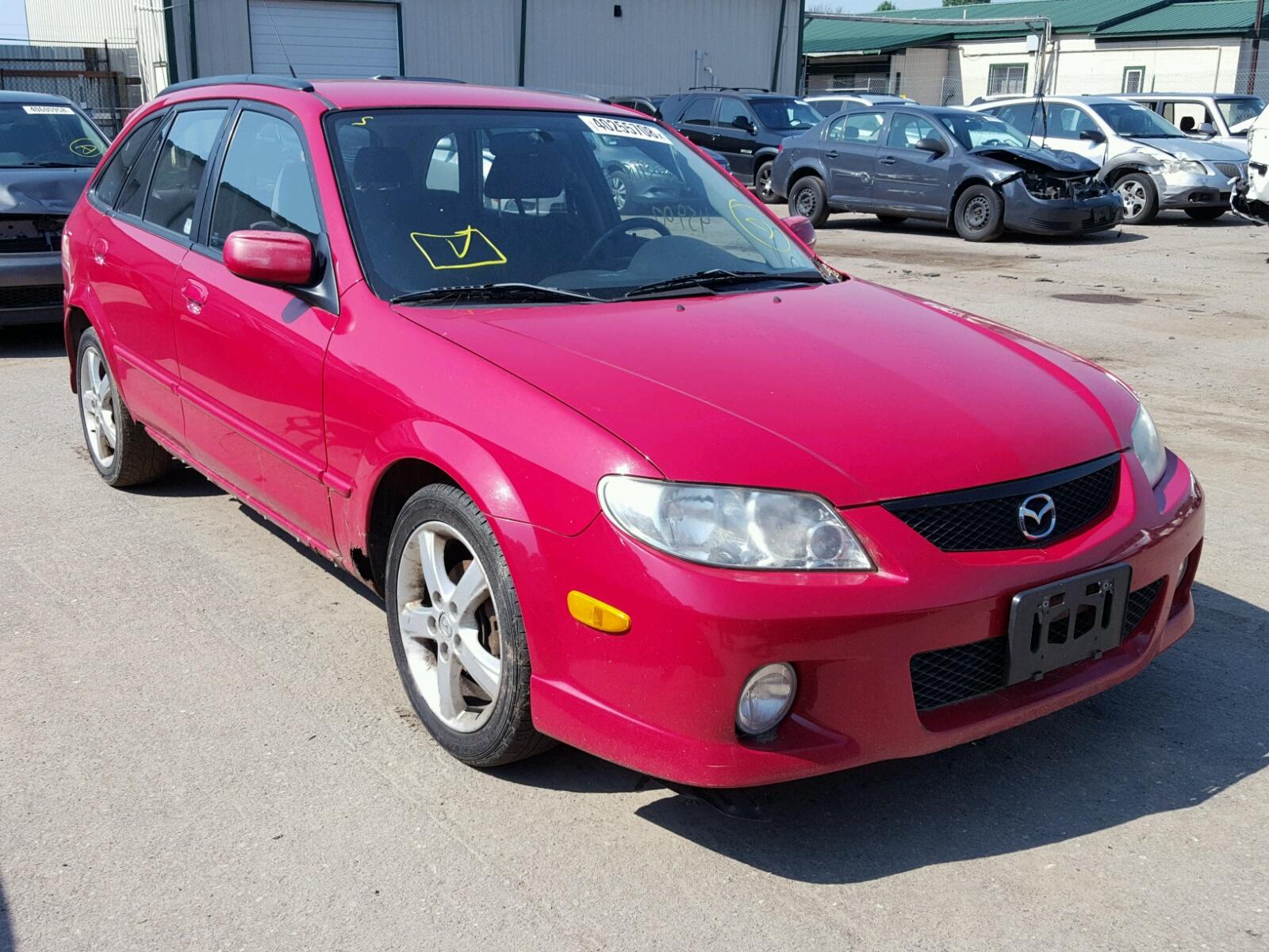 Jm1bj245921594835 2002 Red Mazda Protege Pr On Sale In Mn 5 Wagon 20l Left View