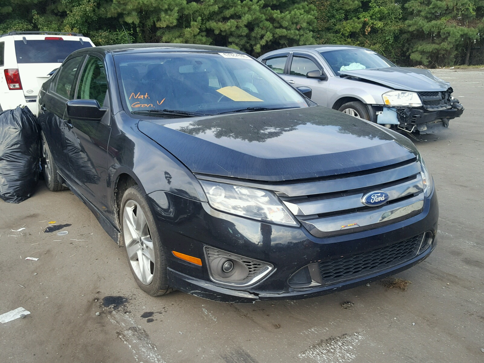 Salvage 2012 Ford FUSION SPORT for sale