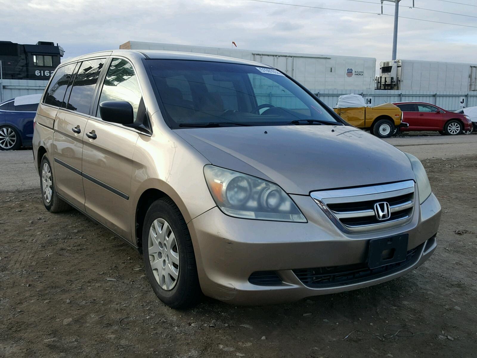 Salvage 2007 Honda ODYSSEY LX for sale