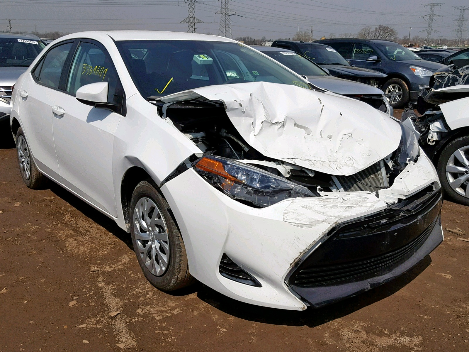 Salvage 2018 Toyota COROLLA L for sale