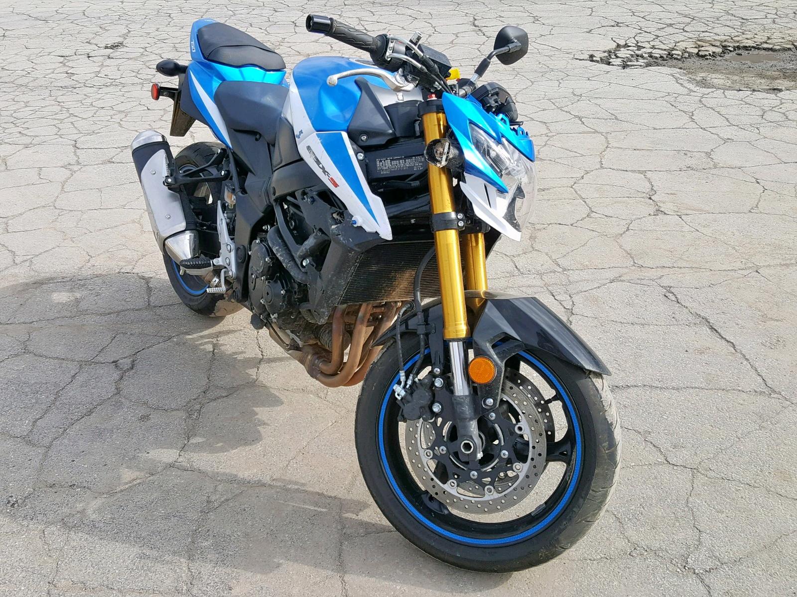 Salvage 2015 Suzuki GSX-S750 for sale