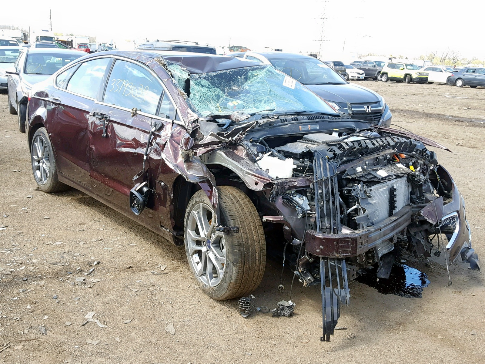Salvage 2019 Ford FUSION TITANIUM for sale