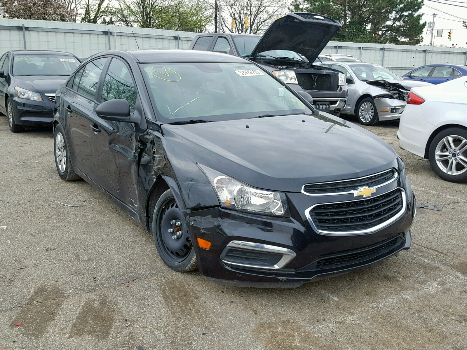 Salvage 2015 Chevrolet CRUZE LS for sale