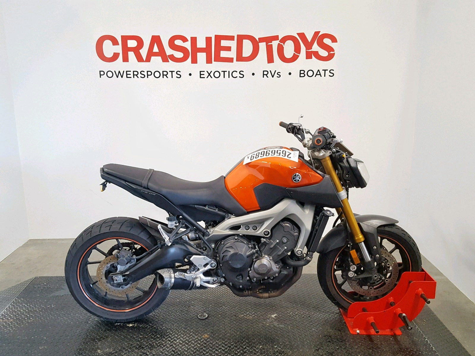 Salvage 2014 Yamaha FZ09 for sale