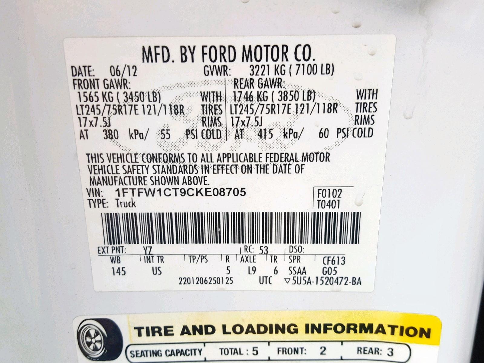 2012 Ford F150 Super 3 5L 6 in AZ - Phoenix