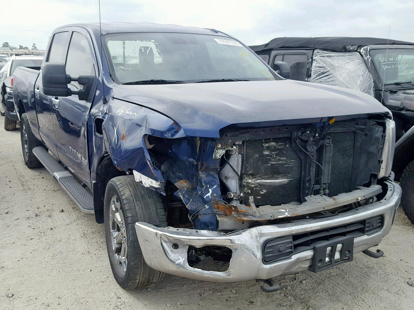 Salvage 2017 Nissan TITAN XD S for sale