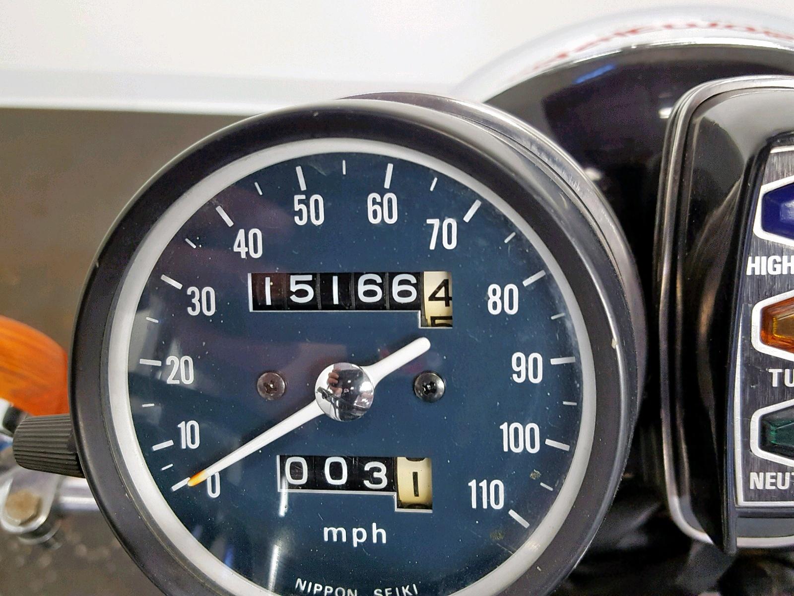 1976 Honda Cb360 inside view