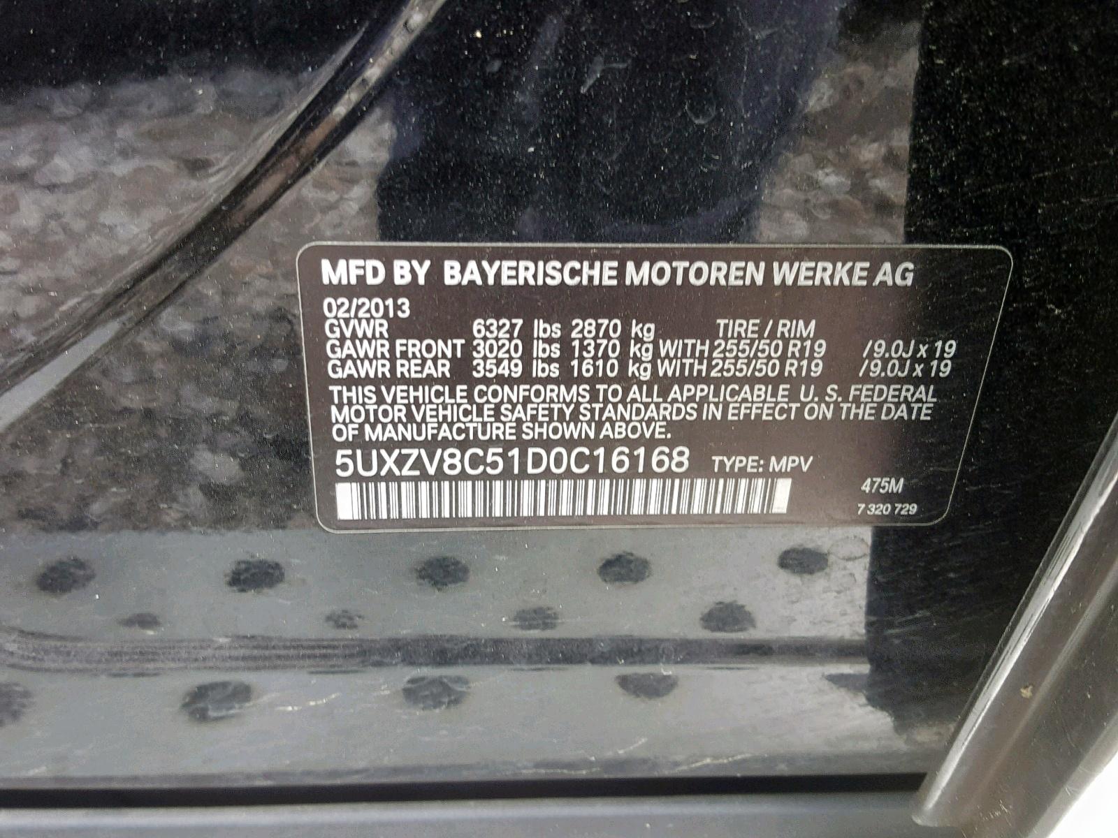5UXZV8C51D0C16168 - 2013 Bmw X5 Xdrive5 4.4L
