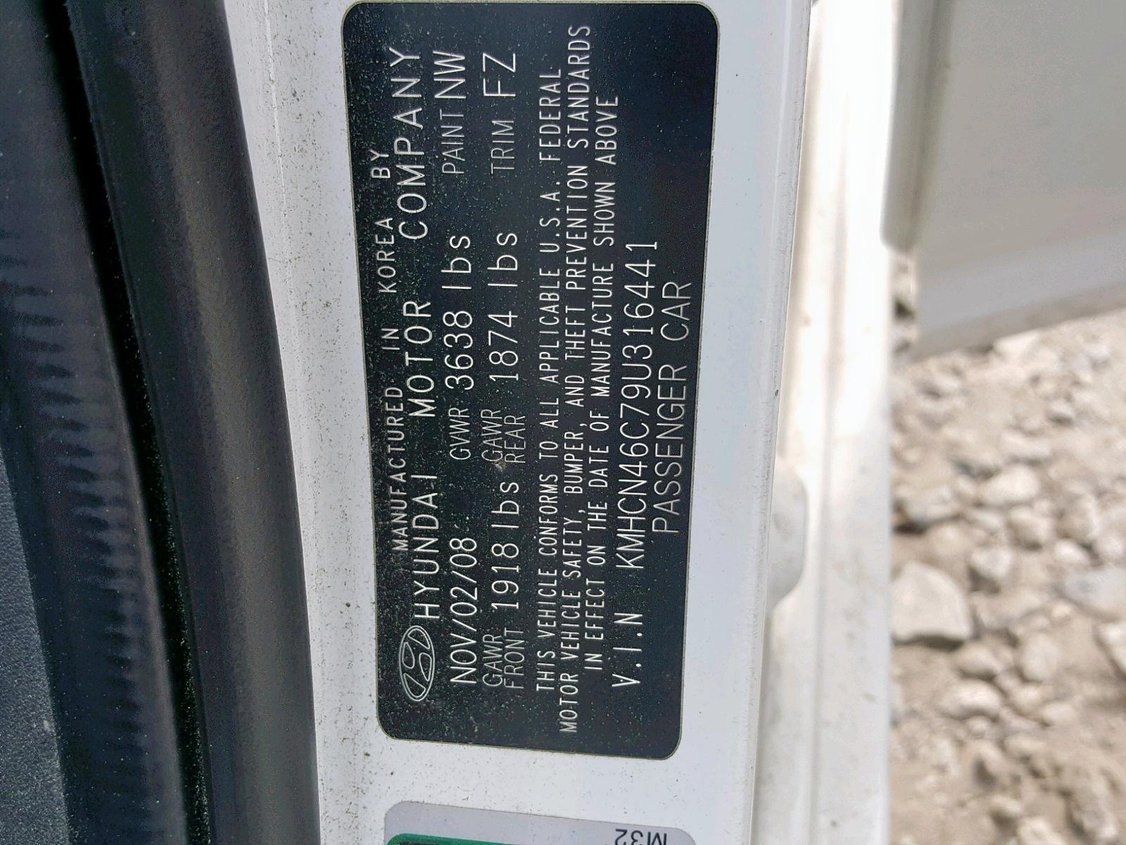KMHCN46C79U316441 - 2009 Hyundai Accent Gls 1.6L