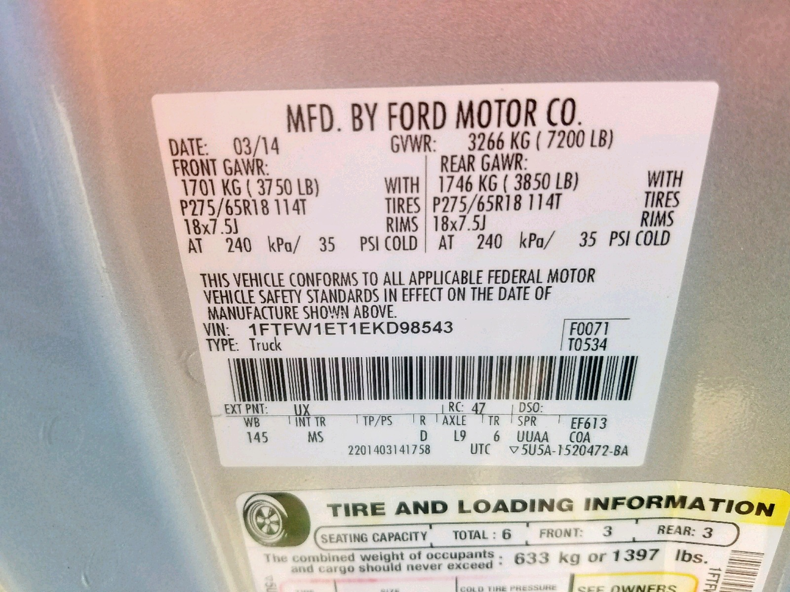 2014 Ford F150 Super 3 5L 6 in KY - Louisville