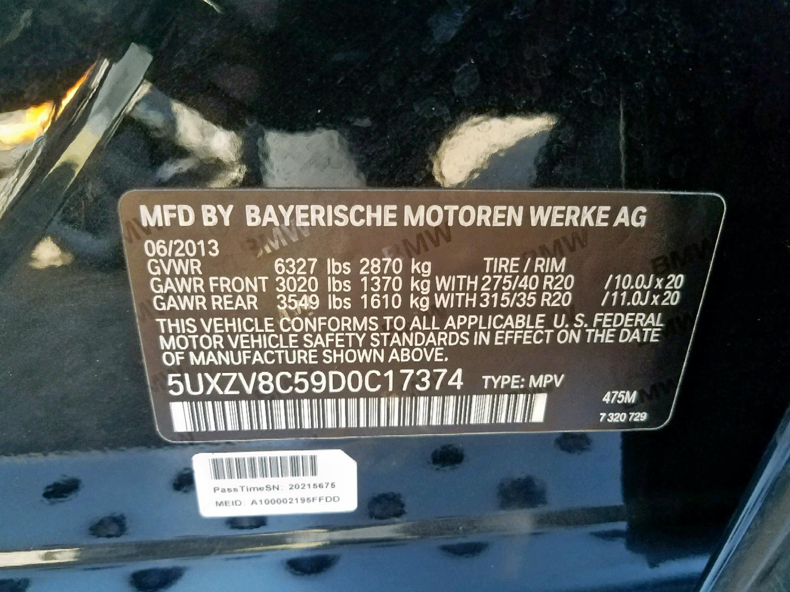 5UXZV8C59D0C17374 - 2013 Bmw X5 Xdrive5 4.4L