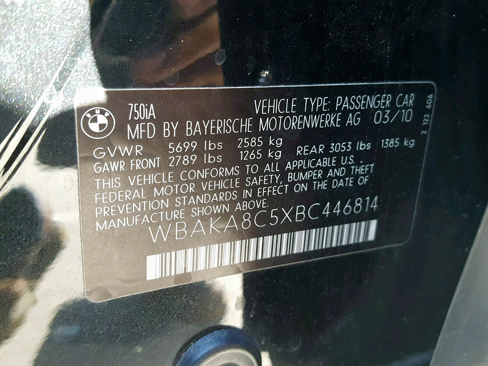 2011 Bmw Alpina B7 4.4L