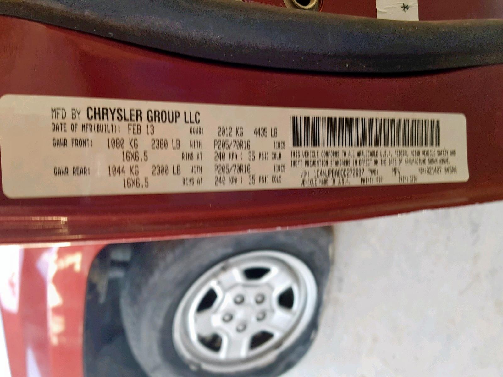 1C4NJPBA8DD272697 - 2013 Jeep Patriot Sp 2.0L