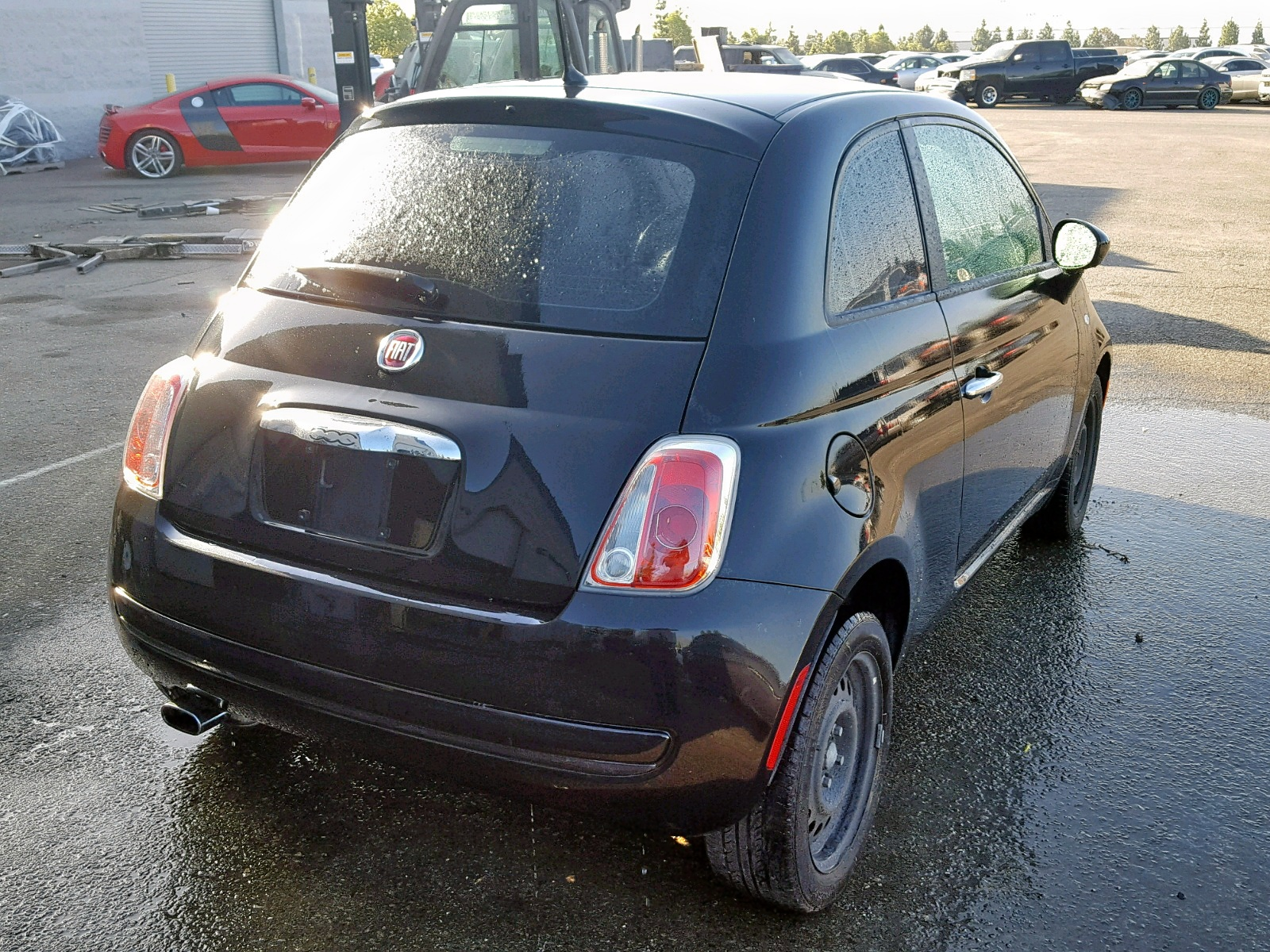 2012 Fiat 500 Pop 1.4L rear view