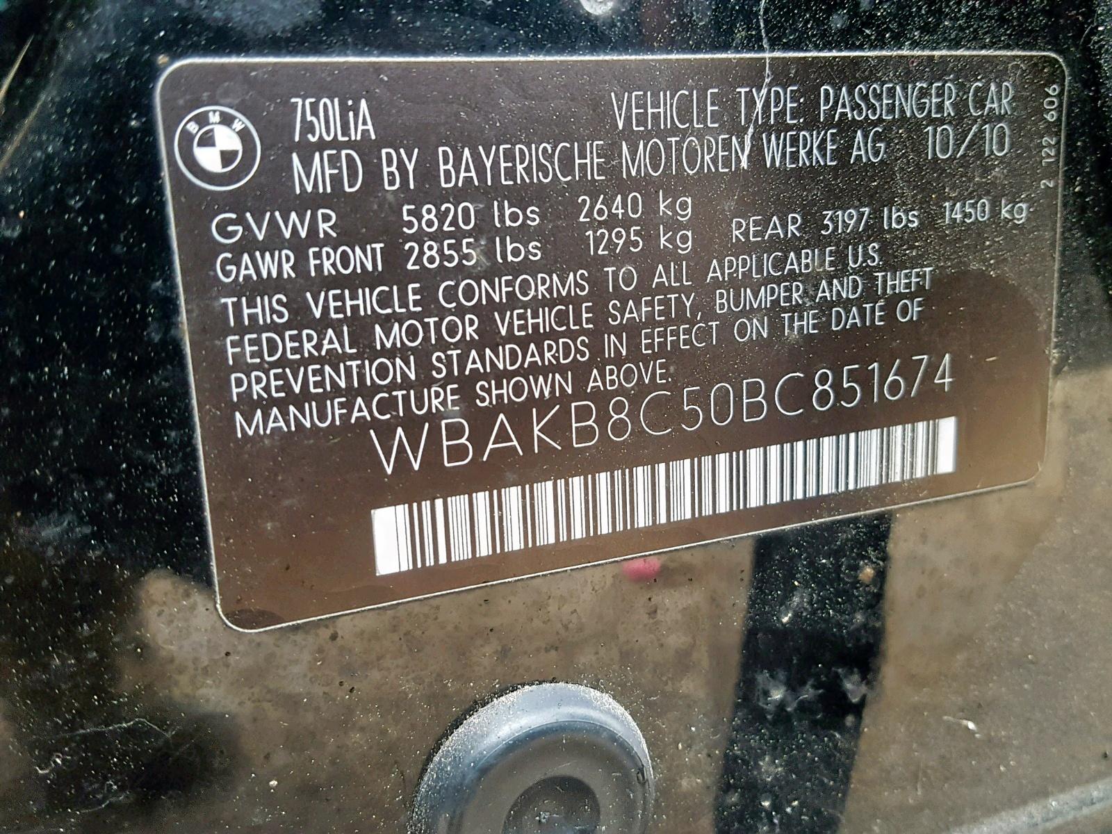 WBAKB8C50BC851674 - 2011 Bmw Alpina B7 4.4L