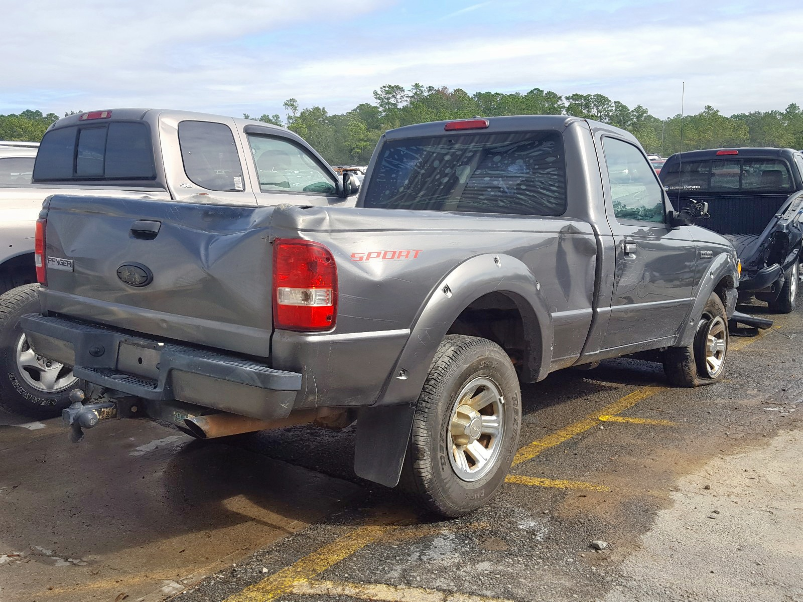 1FTYR10U46PA64835 - 2006 Ford Ranger 3.0L rear view