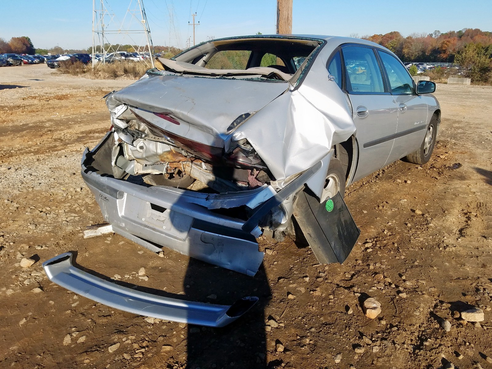 2G1WH55K5Y9130344 - 2000 Chevrolet Impala Ls 3.8L rear view