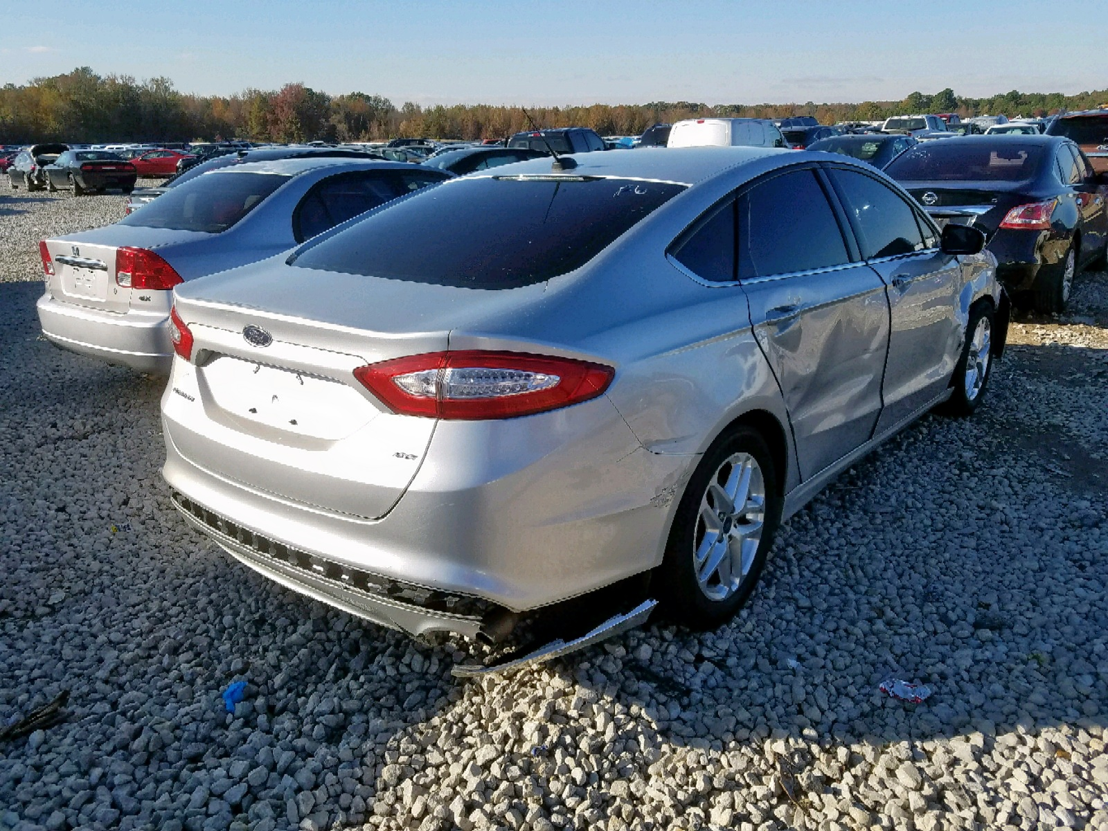 3FA6P0H7XDR312068 - 2013 Ford Fusion Se 2.5L rear view
