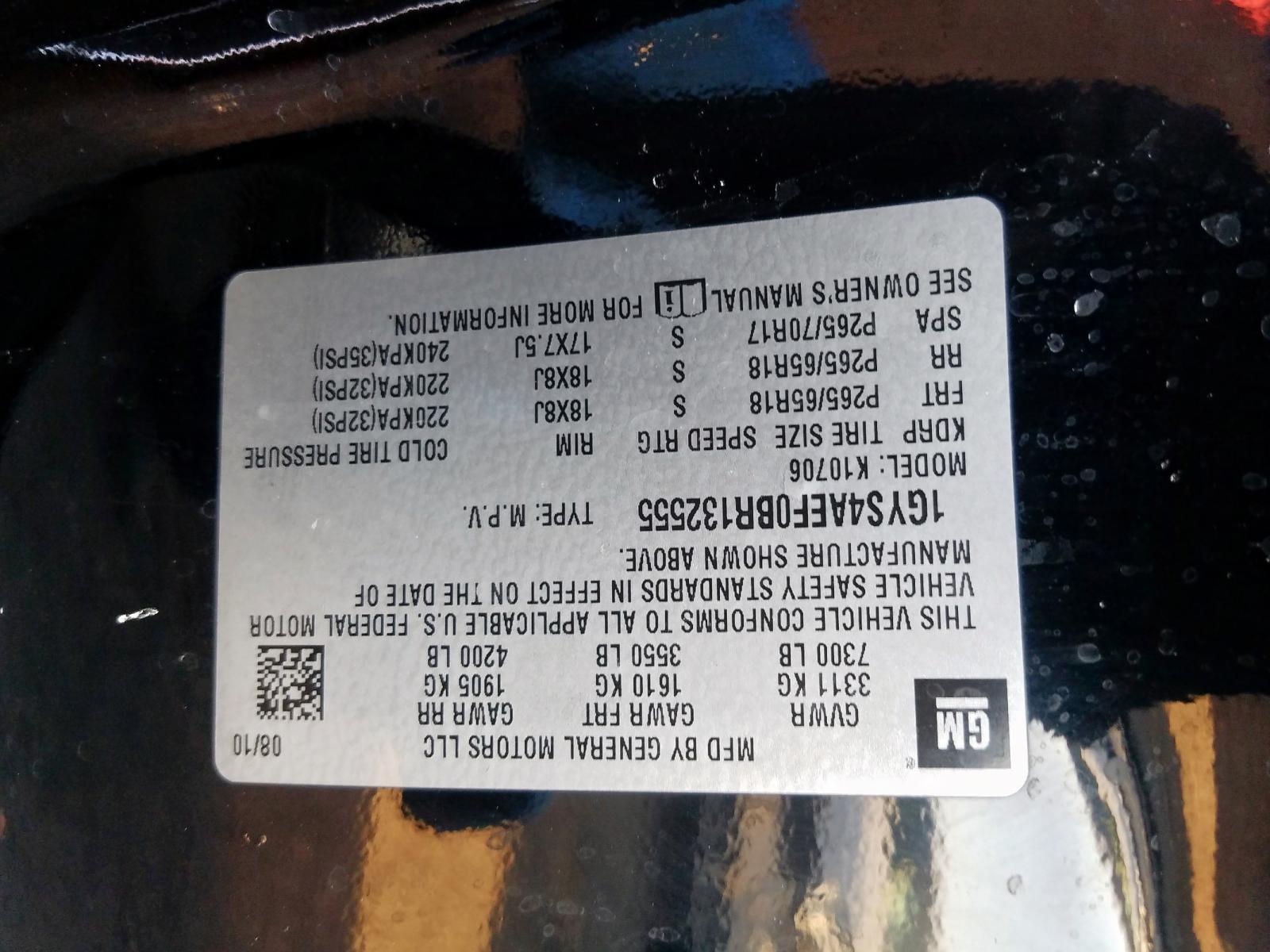 1GYS4AEF0BR132555 - 2011 Cadillac Escalade 6.2L