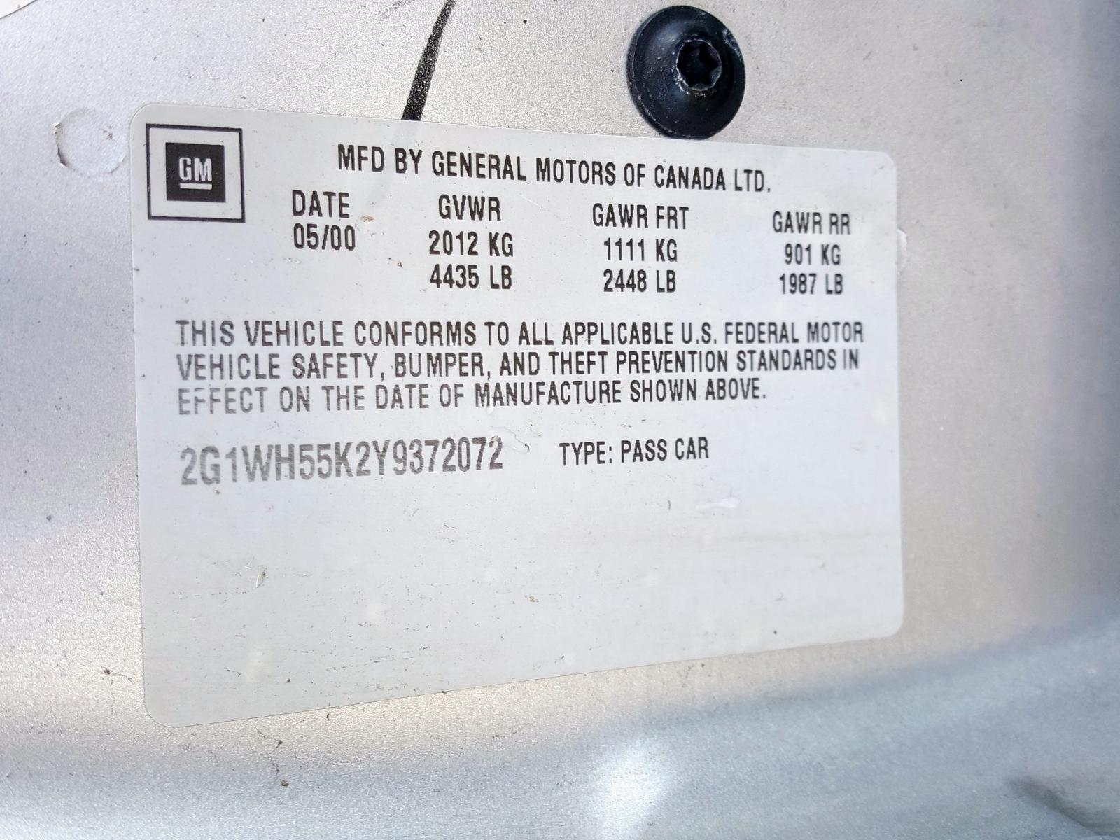 2000 Chevrolet Impala Ls 3.8L