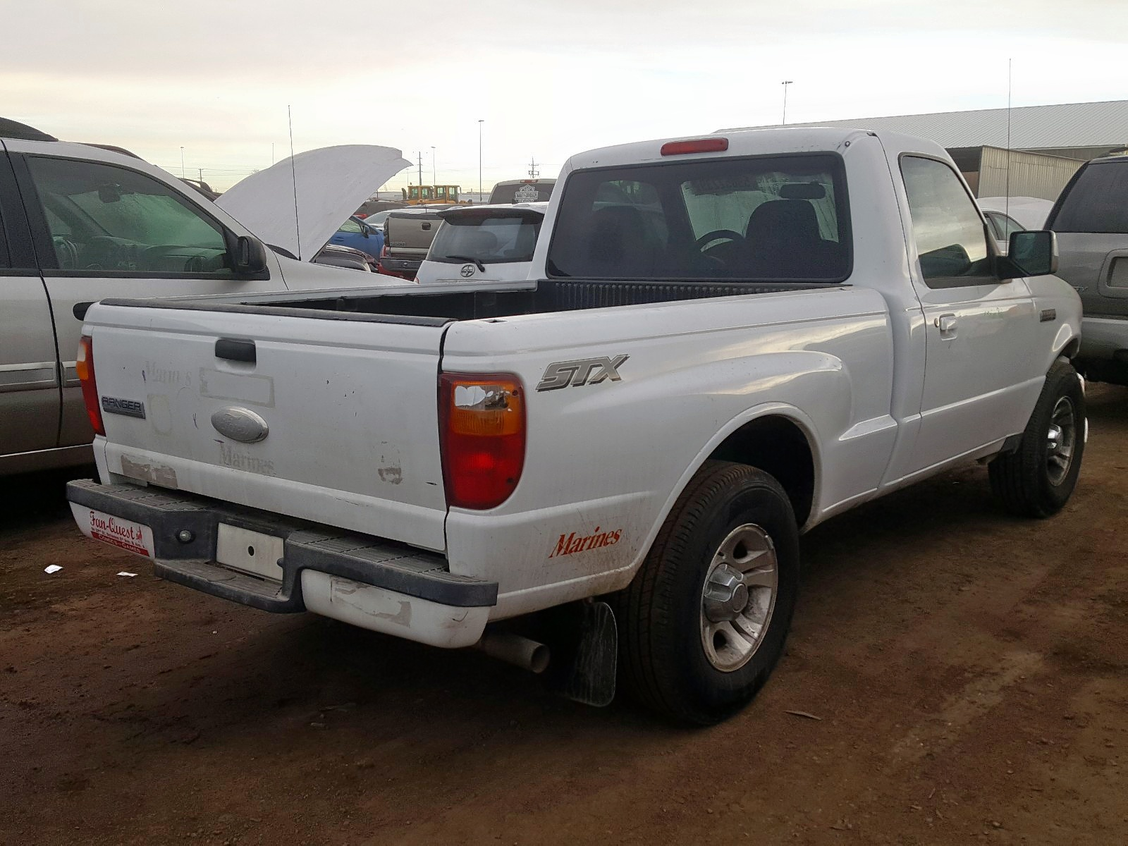 1FTYR10U26PA04908 - 2006 Ford Ranger 3.0L rear view