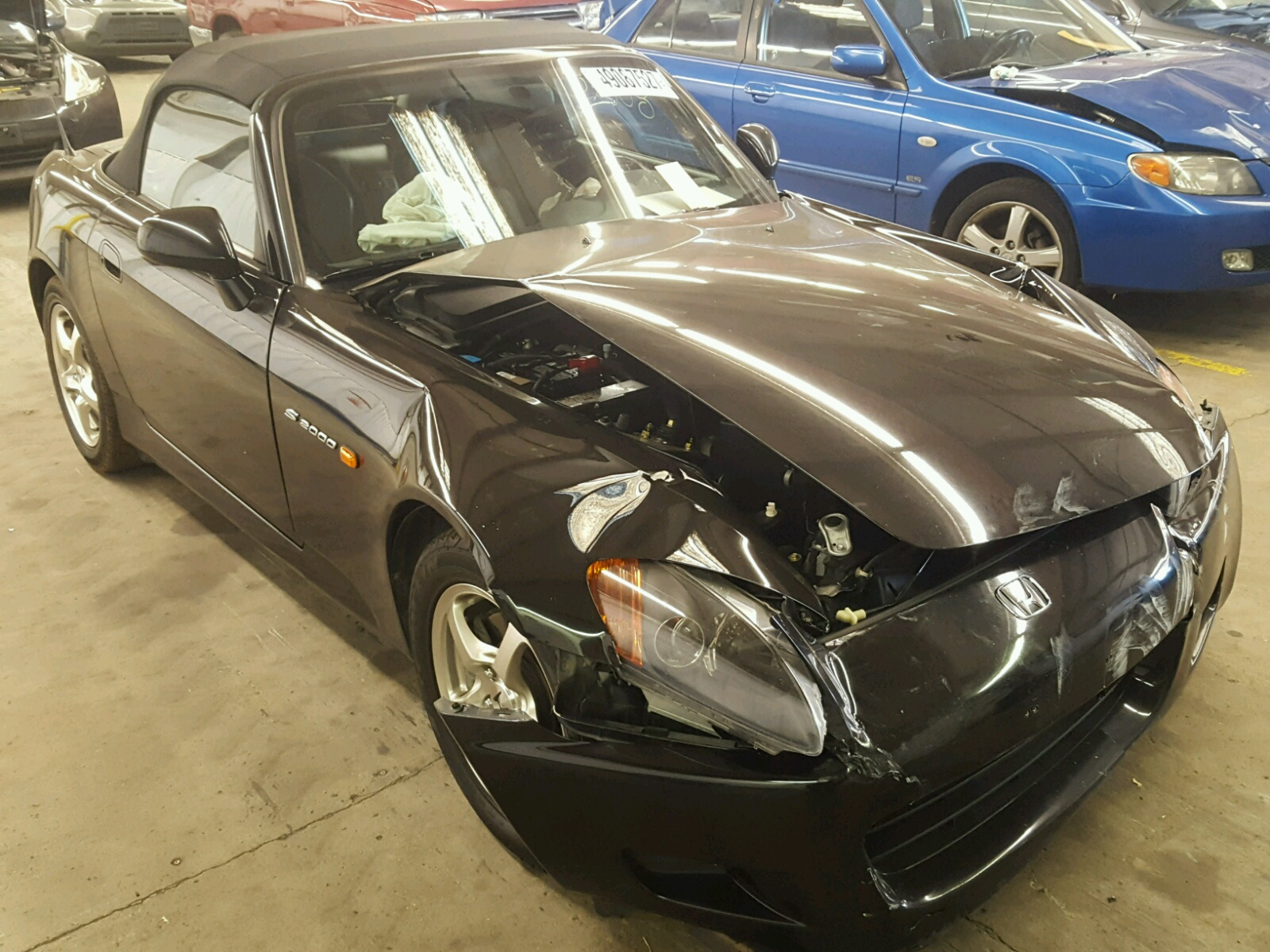 Salvage 2002 Honda S2000 for sale