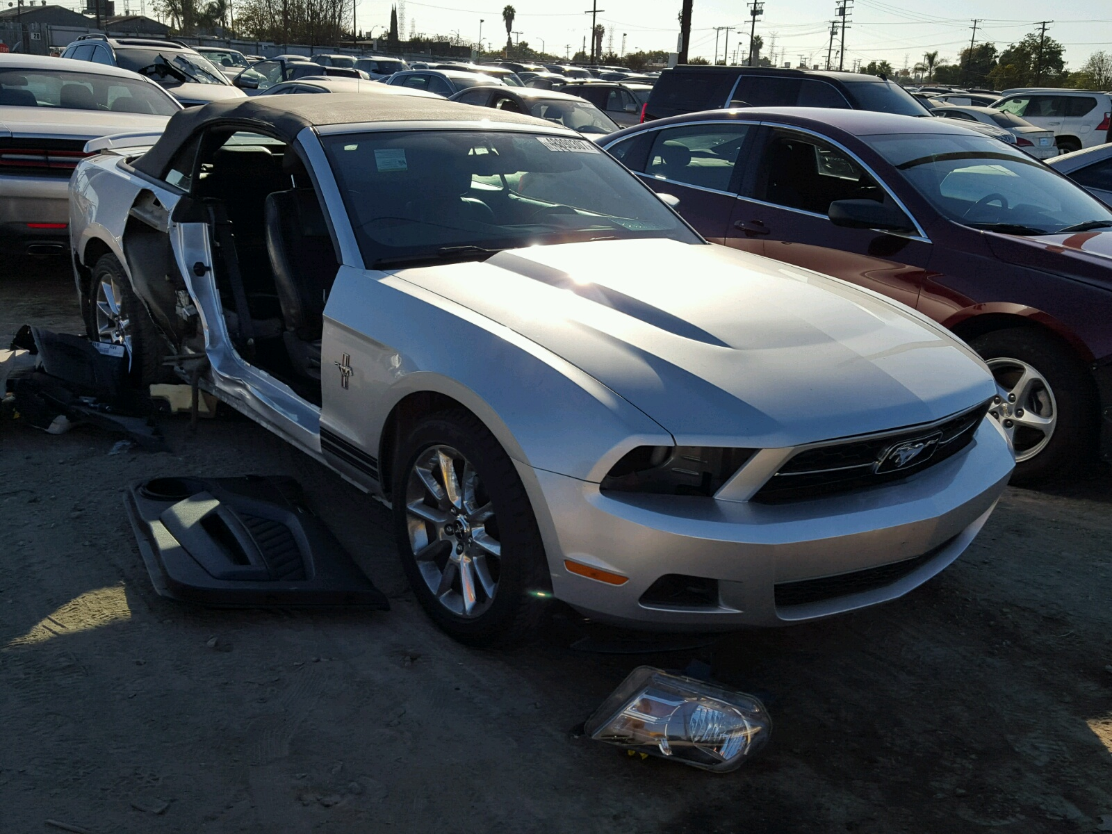 1ZVBP8EN0A5129025 | 2010 SILVER FORD MUSTANG on Sale in CA - LOS ...