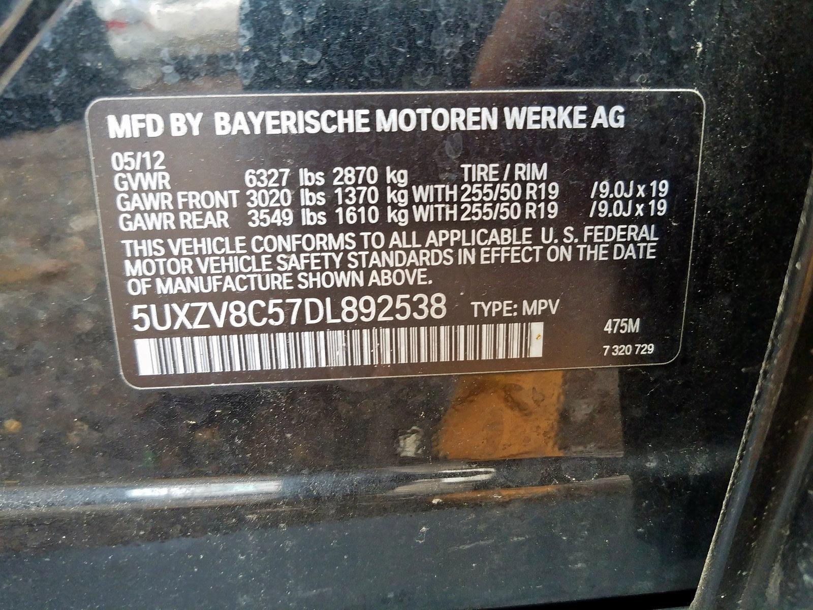 2013 Bmw X5 Xdrive5 4.4L